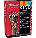 KIND Bars, Dark Chocolate Cherry Cashew + Antioxidants, Gluten Free, Low Sugar, 1.4oz, 4 Count