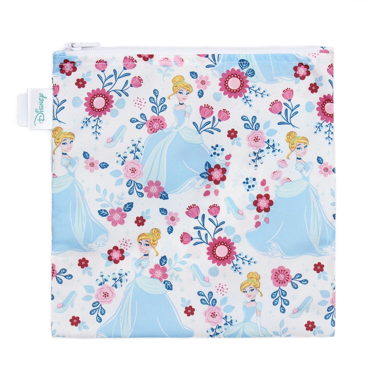 Bumkins Disney Baby Reusable Snack Bag Large, Cinderella SBL-DPR65