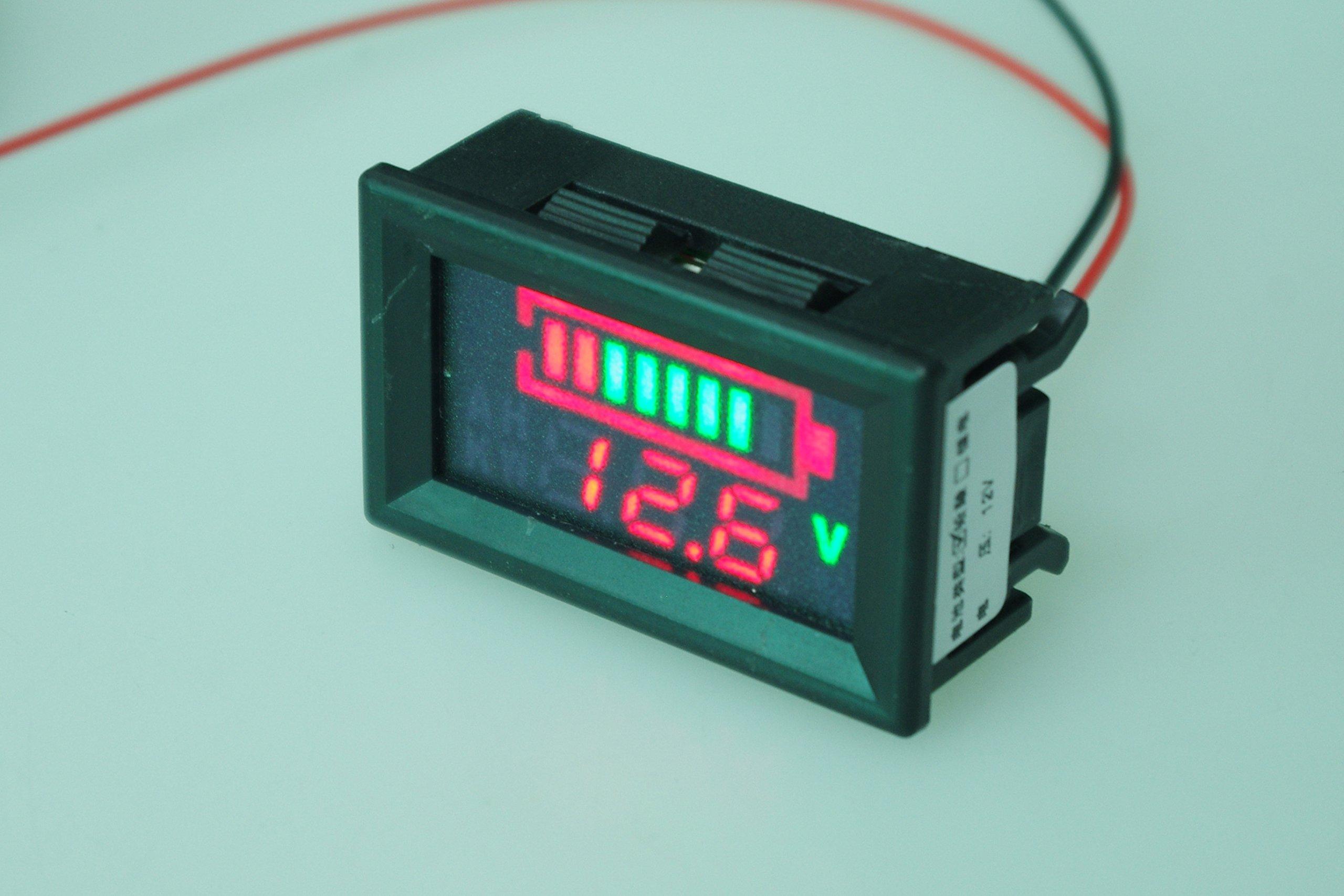 SMAKN DC 12v 24V 36V 48V 60V 72V 96V Acid lead batteries percentage capacity indicator LED Tester voltmeter With TTL OUTPUT by SMAKN (Image #4)