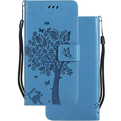 LEMORRY Carcasa para Xiaomi Mi 8 Lite Funda Cuero Estuches Bolsa Piel Billetera Flip Stand Cover Protector Magnética Suave TPU Silicona Tapa Funda ...