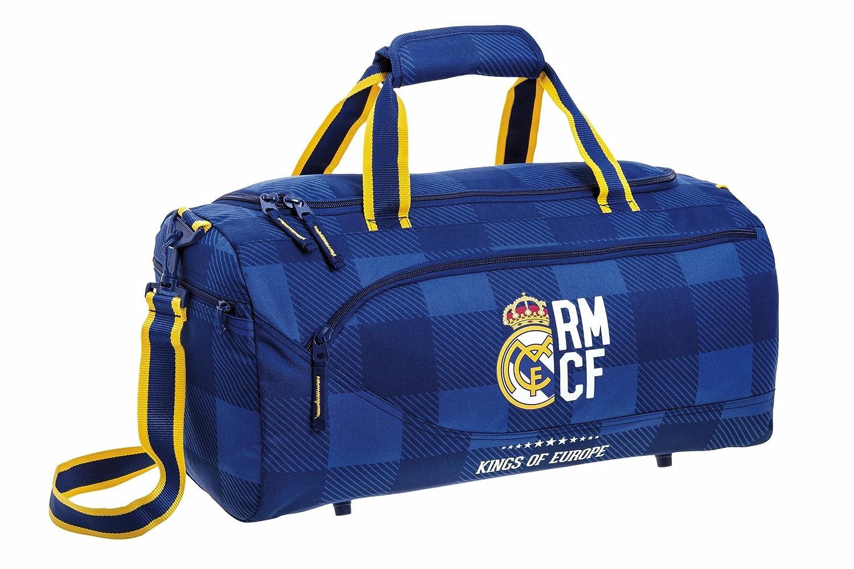 Real Madrid Bolsa de Deporte y Viaje, 50 x 25 x 25 cm, 40 litros Blue Safta 711724553