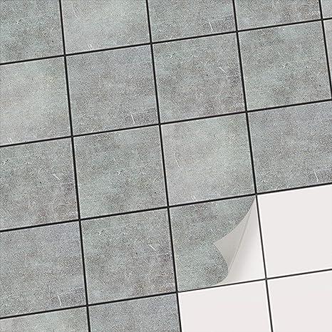 Creatisto Fliesenfolie Badezimmer U Kuche Fliesen Deko I Fliesensticker Bad Deko Folie Badgestaltung Fliesen Uberkleben Statt Fliesenfarbe Oder Fliesenlack I 10x10 Cm Motiv Beton 20 Stuck Amazon De Kuche Haushalt
