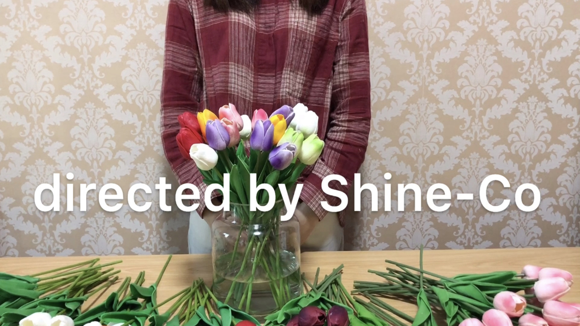 SHINE-CO LIGHTING PU Real Touch Artificial Tulips Fake Flowers 10 ...