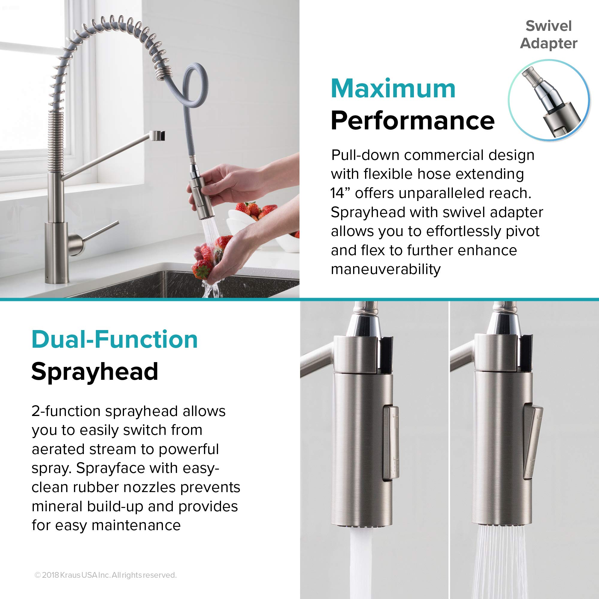 Kraus KPF-2631SFS Oletto Kitchen Faucet, 21.75 inch, Spot Free Stainless Steel by Kraus (Image #12)