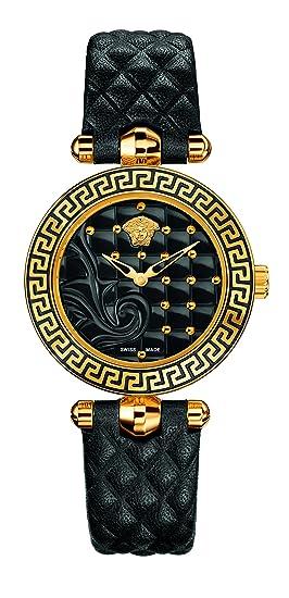 Versace Reloj Analógico para Mujer de Cuarzo con Correa en Cuero 7630030507311: Amazon.es: Relojes