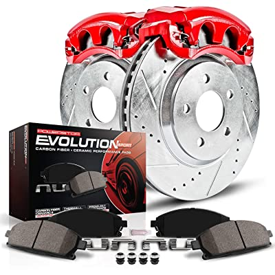 Power Stop KC699 1-Click Performance Brake Kit with Calipers, Front Only: Automotive