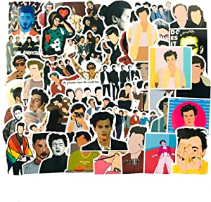Singer Styles Stickers 50PCS for Laptop and Water Bottles,Waterproof Durable Trendy Vinyl Laptop Decal Stickers Pack for Teens, Water Bottles, Computer, Travel Case (One Direction)