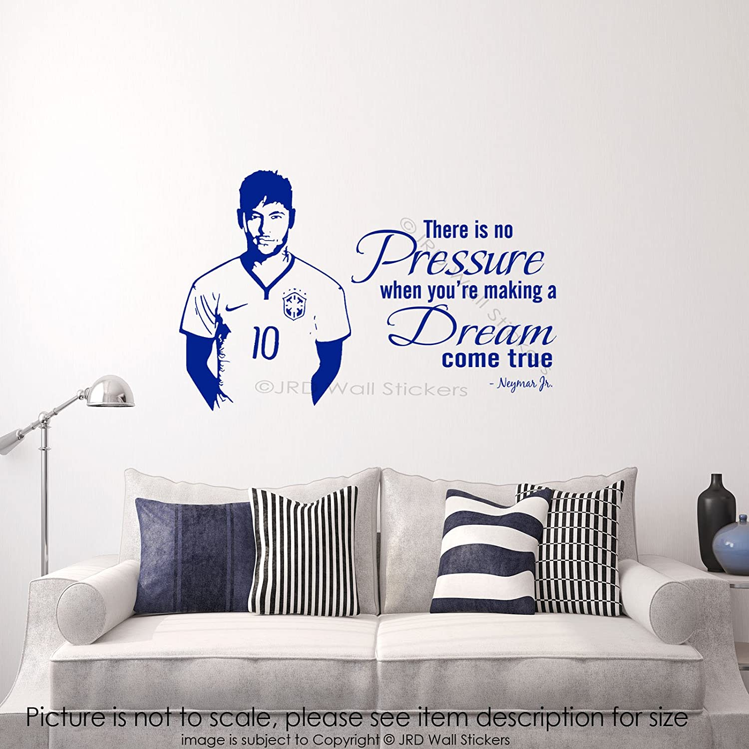 Neymar Junior Wall Quote Wall Sticker Barcelona FC Footballer Sports Decals  D2 Removable Vinyl Decal: Amazon.co.uk: Handmade Part 88