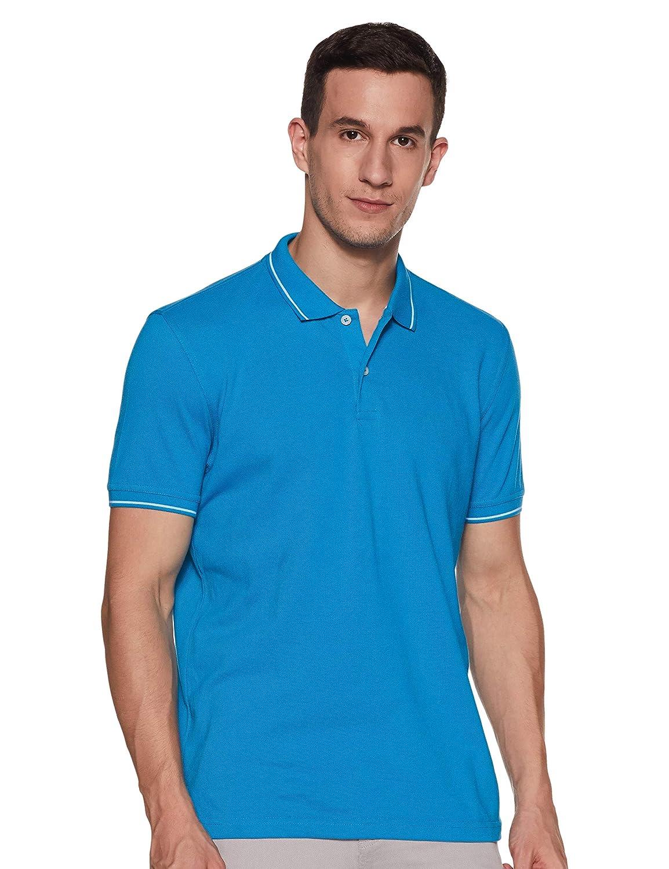 Aqua Blue Colour Regular Fit Men's T-Shirt 2021