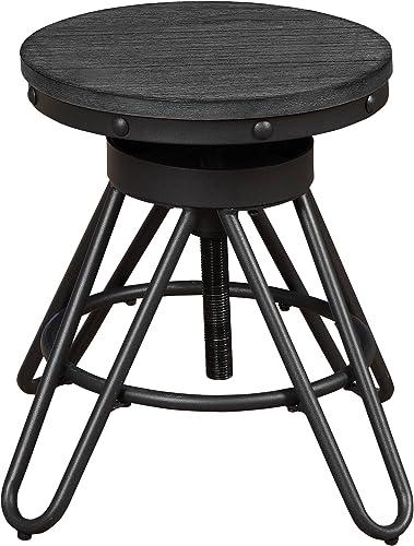 Homelegance Cirrus Adjustable Counter Height Stool Set of 2 , Black