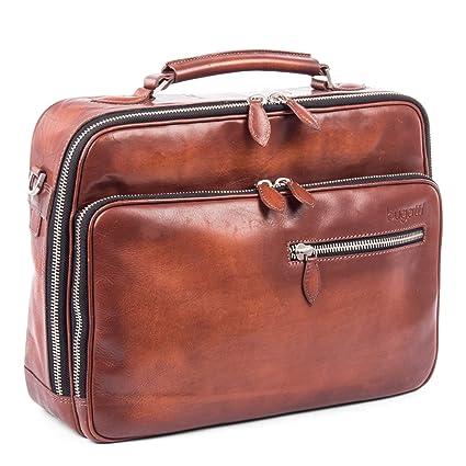 756e5448e6e6 Amazon.com: Bugatti Domus Genuine Leather Business Briefcase ...