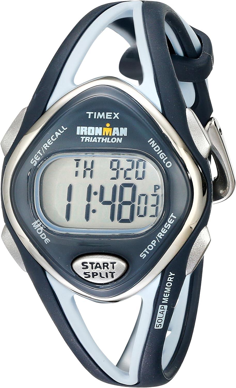 Timex Women's T5K038 Ironman Sleek 50-Lap Navy Resin Strap Watch