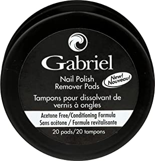 product image for Gabriel Cosmetics, Nail Polish Remover Pads, 20 Count