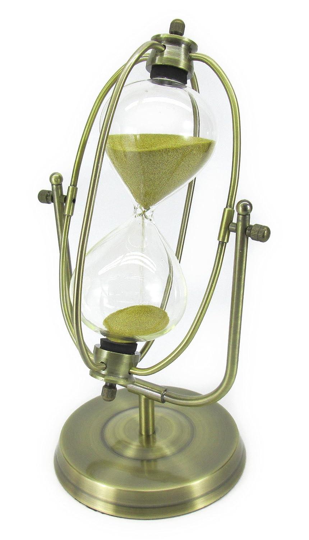 【ノーブランド品】 ヨーロピアン アンティーク風 回転式 ブロンズ枠の 砂時計 10分計 ゴールドブラウンの砂 B00PGUFFT0
