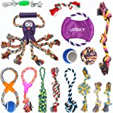 Dog Rope Toys Puppy Grinding Teeth 15 Nearly Indestructible Dog Toys Dental Cleaning Product Prevents Boredom and…