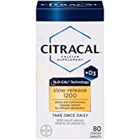Amazon.com deals on Citracal with Calcium D Slow Release 1200, 80-Count
