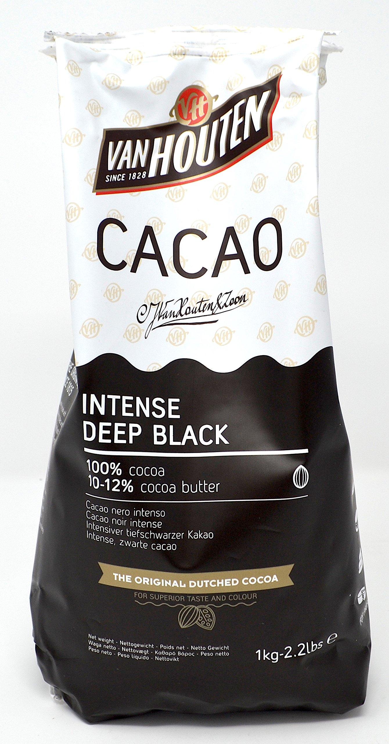 Van Houten - Intense Deep Black Cocoa Powder (10-12% Cocoa Butter) 1kg