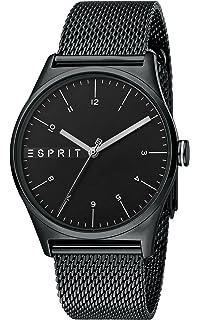 Analog Mit Esprit Herren Armband Es1g038l0055 Leder Uhr Quarz HeWEb29YDI