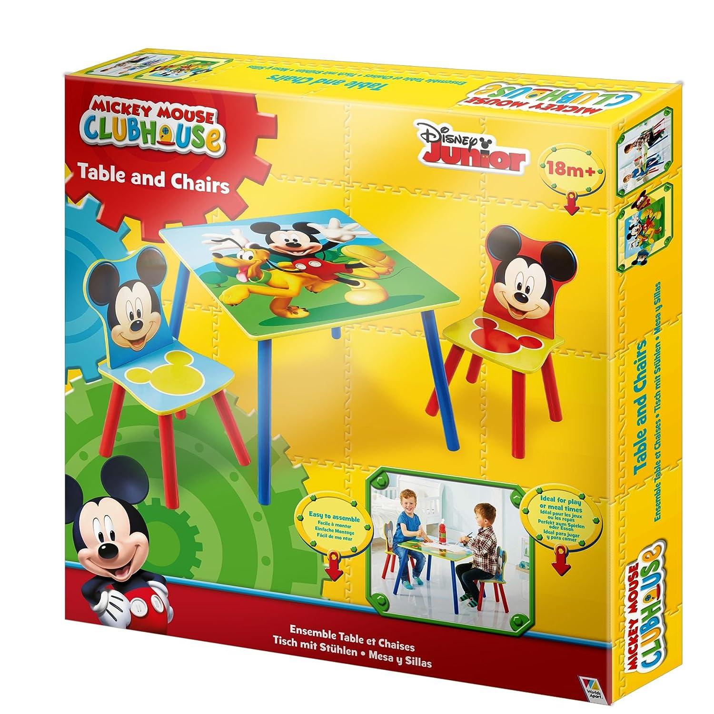 Mickey Mouse Set Tavolo e Tavolo per Bambini con Topolino 527MKS WorldsApart