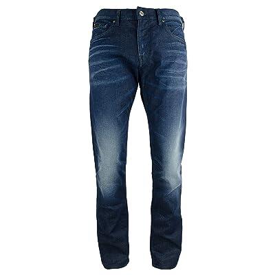 Armani Exhange Men's J16 Straight-Fit Jeans-BLU-28R Blue at Men's Clothing store