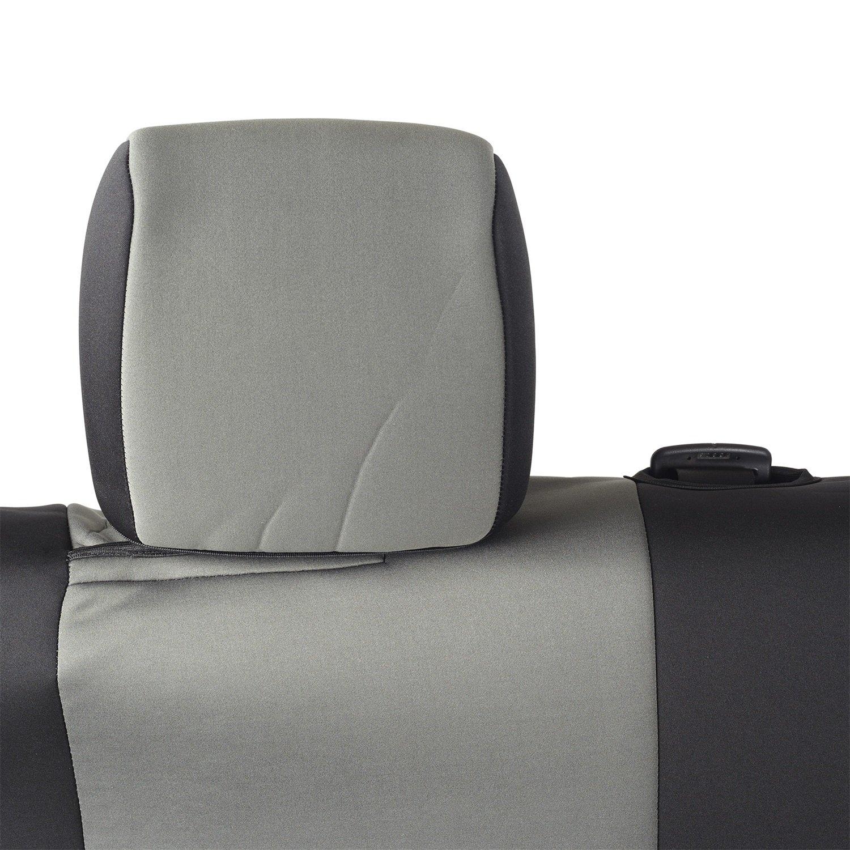 Smittybilt 47722 Black//Chrome Neoprene Front Seat Cover