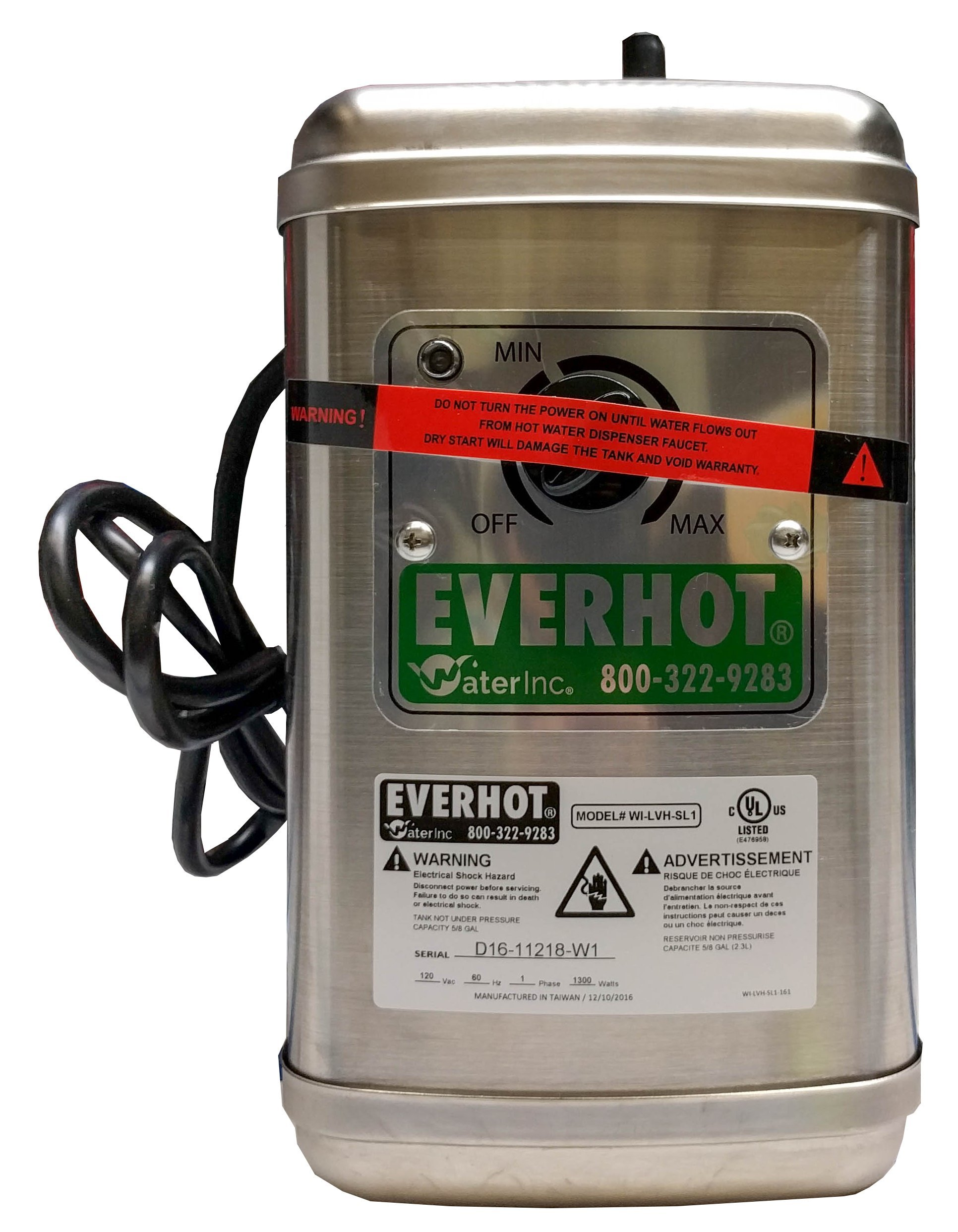 Everhot Stainless Steel Upgrade Tank Only by water