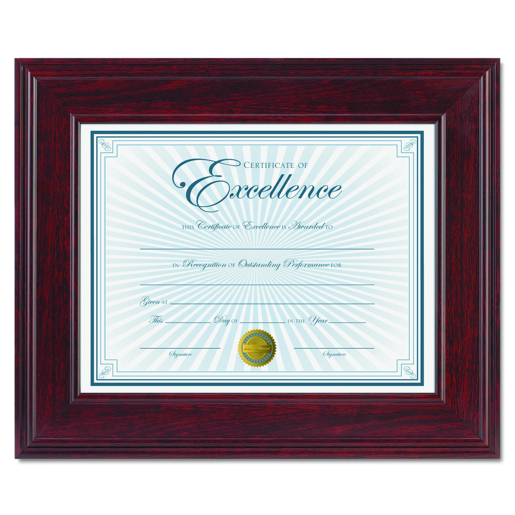 DAX Executive Document/Photo Frame, Desk/Wall Mount, Wood, 8.5 x 11 Inches, Mahogany (N15787NT)