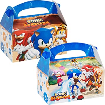 Amazon Com Birthdayexpress Sonic Boom Party Supplies Empty Favor Boxes 4 Toys Games