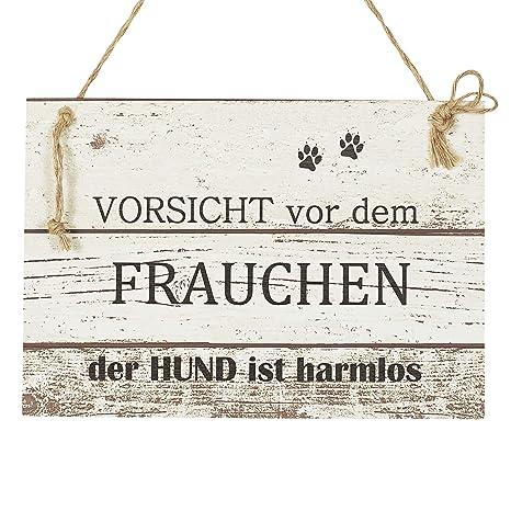 Hunde Wand Deko Holzschild Mit Spruch Im Shabby Chic Vintage Stil