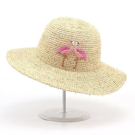 Sombrero de paja Rafi tejida a mano flamenco moda sombrero para el ...