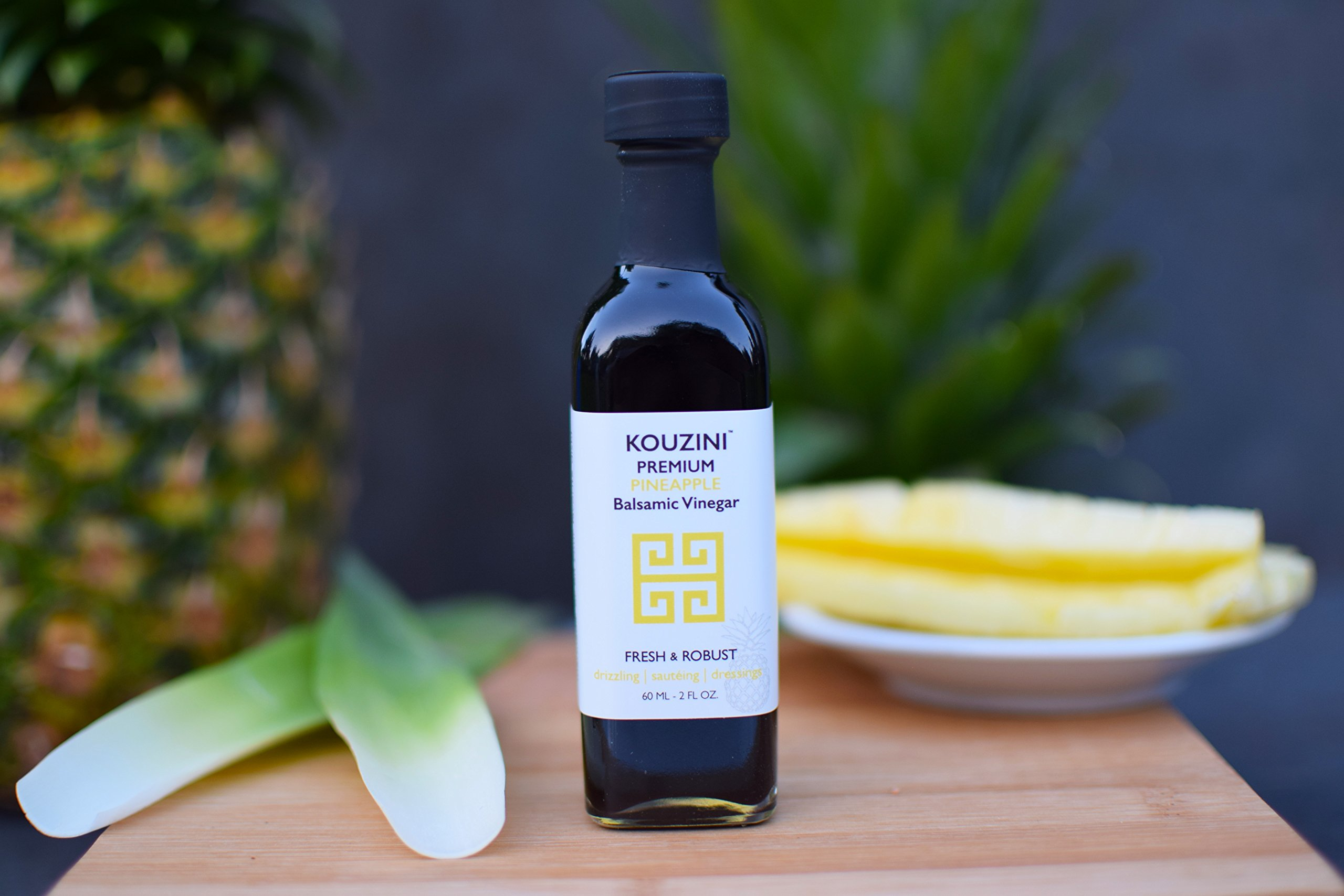 Kouzini Tropical vinegar set. 3-Pack 60ml mini bottles. Summer Edition 4 Naturally thick, sweet and delicious Perfect size for traveling NO Preservatives, NO artificial colorings, NO added sugars