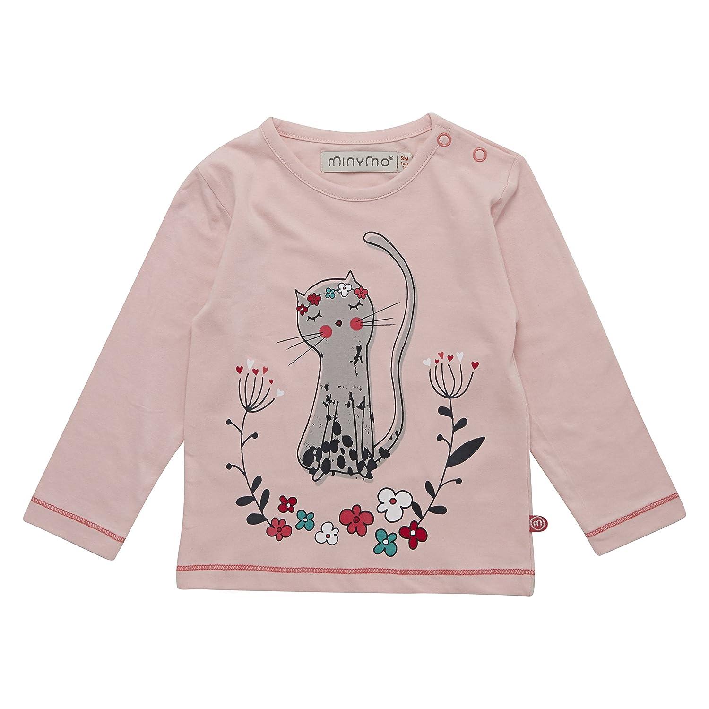 MINYMO Tiny Girl Langarmshirt Elsa 64 Katze Powder Pink