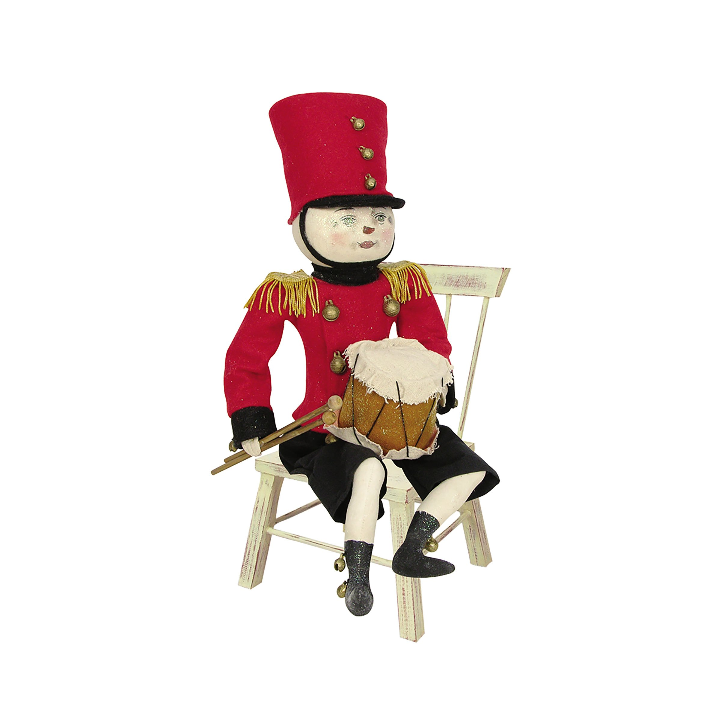 Joe Spencer ''Drummond'' Drummer Boy Figure Soft Sculpture Doll