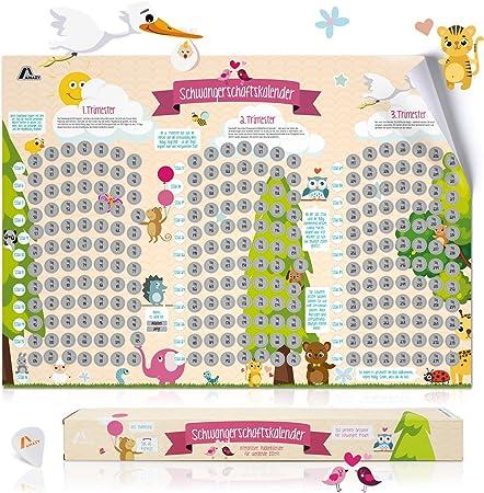 236 Unterhaltsame Infos und Tipps für Werdende Eltern Rubbelkalender Baby Steps