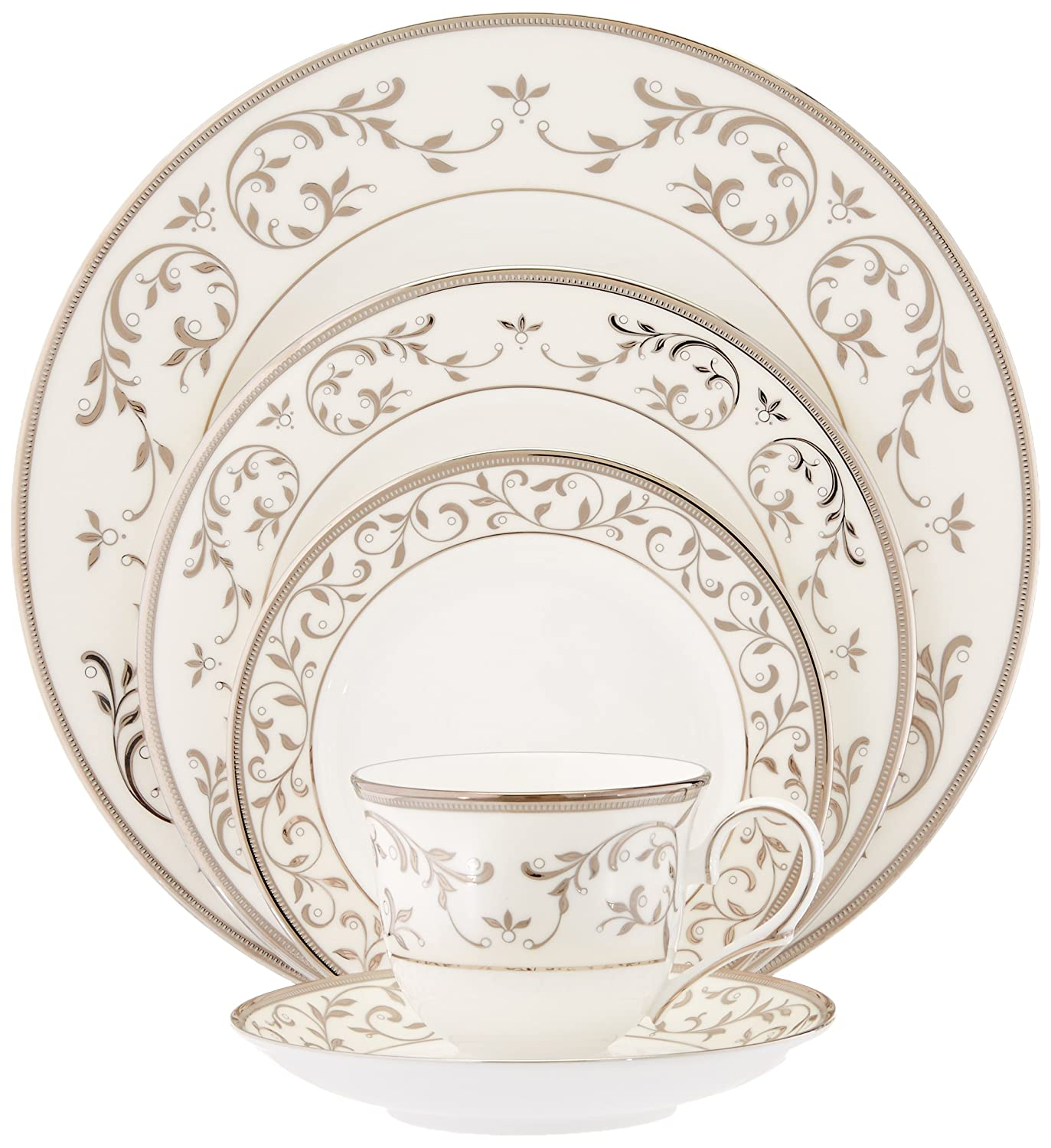 Lenox Opal Innocence Silver Fine Bone China 5-Piece Place Setting