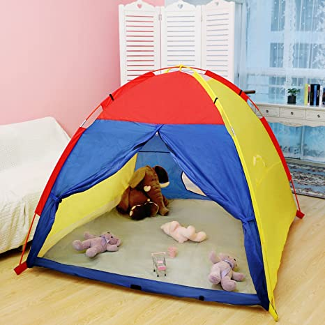 WolfWise Play Tent Indoor Outdoor Beach Tent Sun Shelter 4 Kids Play House with Two Tunnel & Amazon.com: WolfWise Play Tent Indoor Outdoor Beach Tent Sun ...