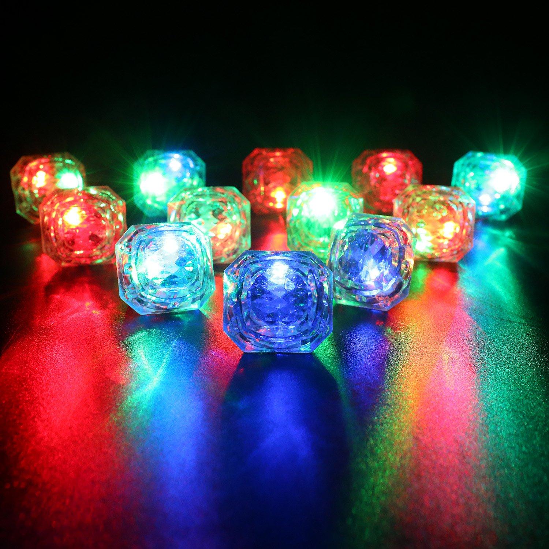 Konsait Flashing Led Light up Ring Toys Diamond Grow in the Dark Jelly Bumpy Rings for Birthday Bachelorette Bridal Shower Gatsby Party Favors (12pcs) by Konsait (Image #5)
