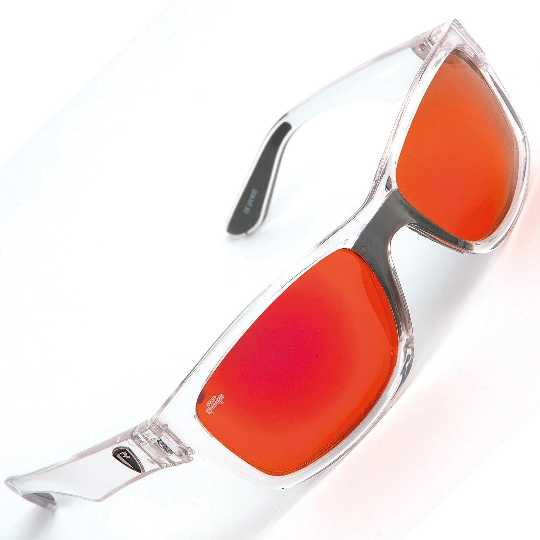 Fox Rage Lunettes de soleil–polarisant pour lunettes de pêche & mouche, Pol Lunettes pour la pêche, Angel pour lunettes de pêche de poissons prédateurs, Transparenter Rahmen / Rote Gläser