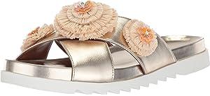 181cd42d745 Nine West Women s FEELTHELUV Synthetic Slide Sandal