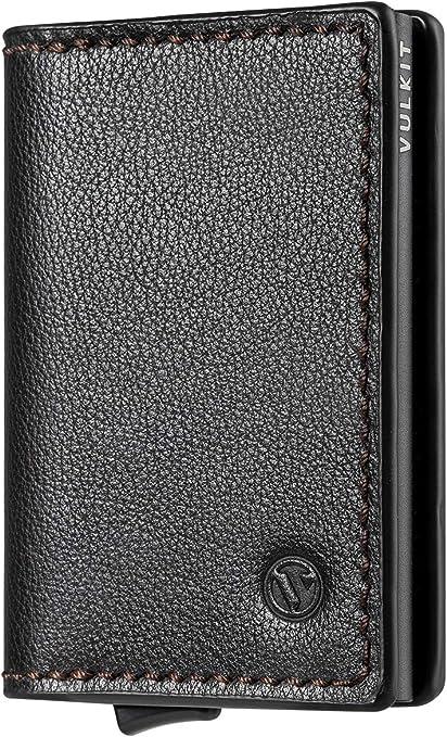 VULKIT Credit Card Holder RFID Blocking Slim Card Wallet Pop up Card Case Aluminium for Men or Women Single - Space grey
