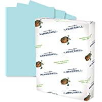 Hammermill Colored Paper, 24 lb Blue Printer Paper, 8.5 x 11-1 Ream (500 Sheets) - Made in the USA, Pastel Paper…