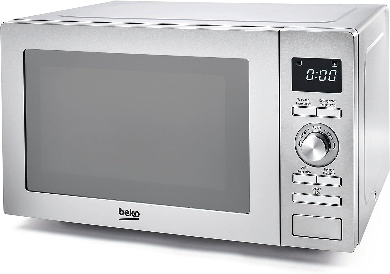 Beko – mof28310 X – Microondas solo 28L 900 W, acero inoxidable ...