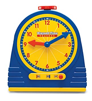Amazon.com: Learning Resources Elapsed Time Clock: Toys & Games