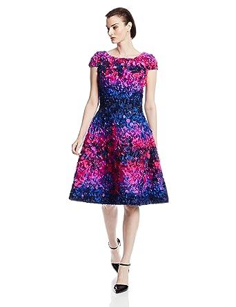 79c63495 Amazon.com: Fabiola Arias Women's Allover Petal Cocktail Dress ...