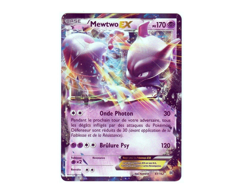 Pokémon Karte 61/162 tolle Mewtu-EX HOLO REVERSE 170 PV-Reihe XY IMPULSON XY8 TURBO-selten Neu DE