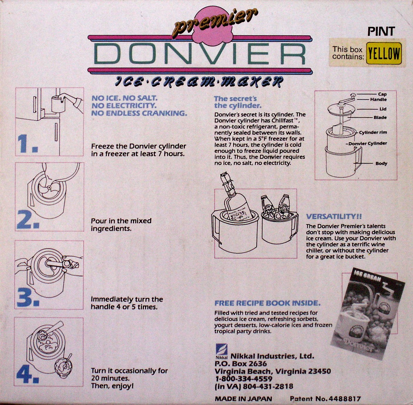 Donvier Pint Size Ice Cream Maker