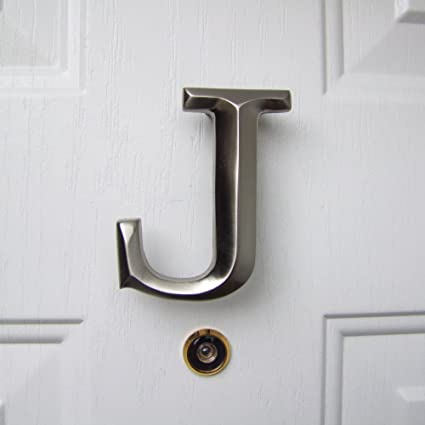 monogram letter j door knocker nickel silver amazon comMonogram Door Knocker #7