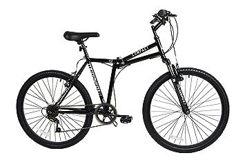 Bicicleta plegable Muddyfox Compact de 66 cm con marco de acero y suspensión delantera