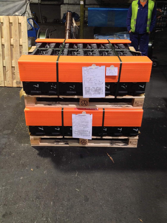 Kantenschutzwinkel KUNSTSTOFF 400//800 1.200x190x190x19mm, Orange 1.200 mm Doppelsteegplatte 120x120// 190x190 mm Wabenstruktur