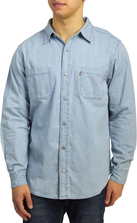 Levis pantalones de tela vaquera botón abajo Workshirt: Amazon.es: Ropa y accesorios